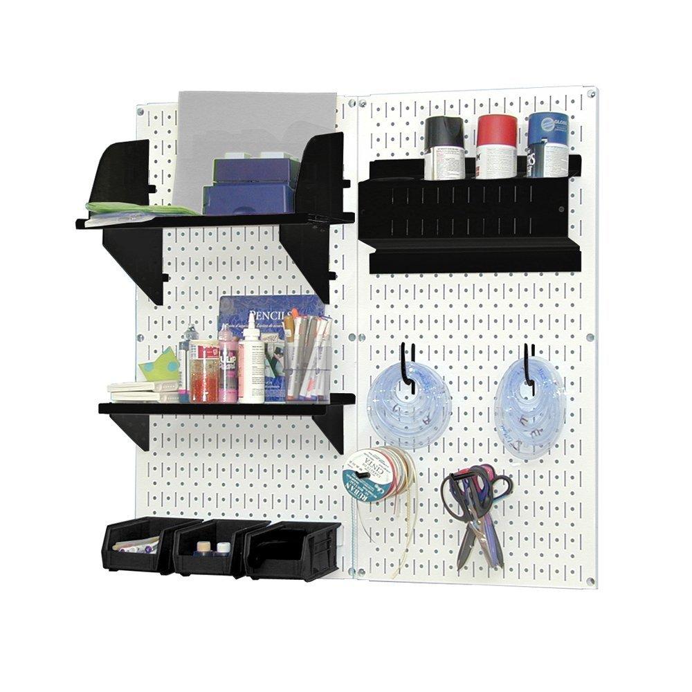 Pegboard Hobby Craft Pegboard Organizer Storage Kit Color: White And Black:  Amazon.co.uk: DIY U0026 Tools