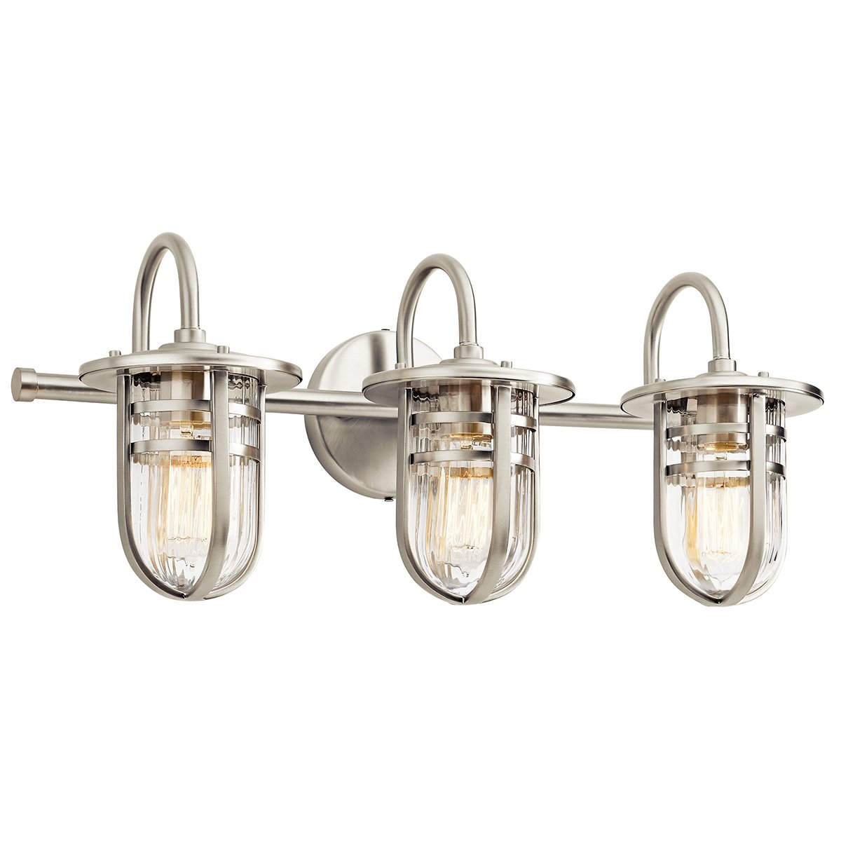Kichler 45133NI Caparros 3-Light Bath in Brushed Nickel - - Amazon.com