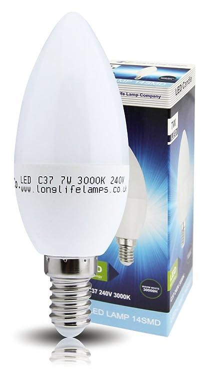 4 bombillas LED de 7 W de potencia con cristal esmerilado, con rosca Edison pequeña