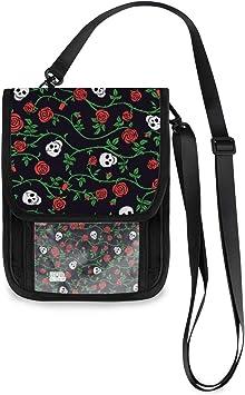 ALAZA Halloween Rose Flower Sugar Skull Tote Bag Purse Handbag for Women Girls