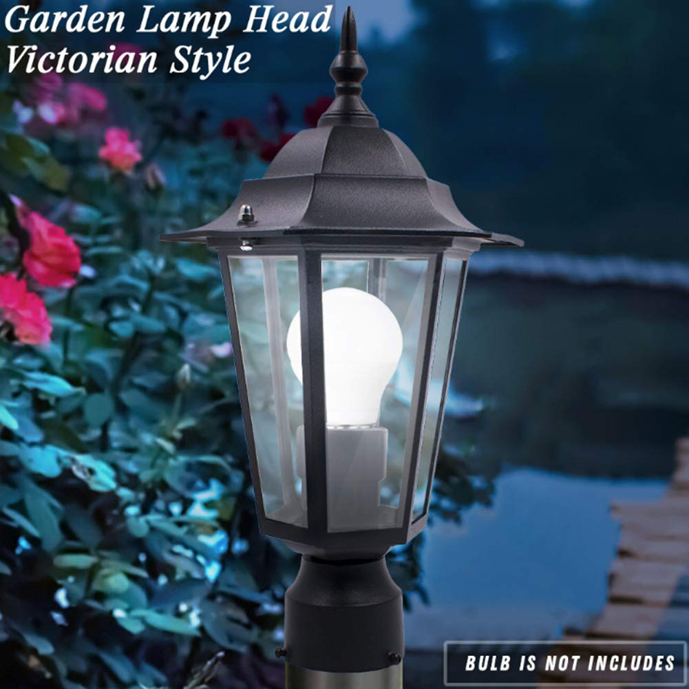 vrsupin88 Lampada da Giardino palo Esagonale ad Alta Luce E27 Luce Resistente alle intemperie per la Decorazione del Cortile