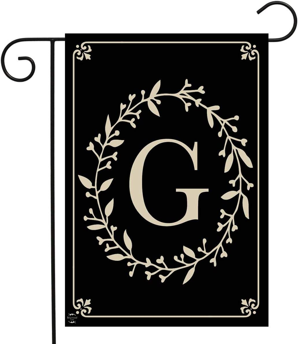 "Briarwood Lane Classic Monogram Letter G Garden Flag Everyday 12.5"" x 18"""