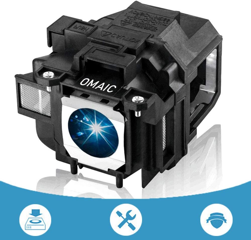 OMAIC Projector Lamp Bulb for Epson ELPLP67/ V13H010L67 Home Cinema PowerLite 500 707 710HD 750HD, W12 S12 EX5210 EX7210 EX3210 EX3212 VS210 VS220 X12 Replacement Projector Lamp/Bulb