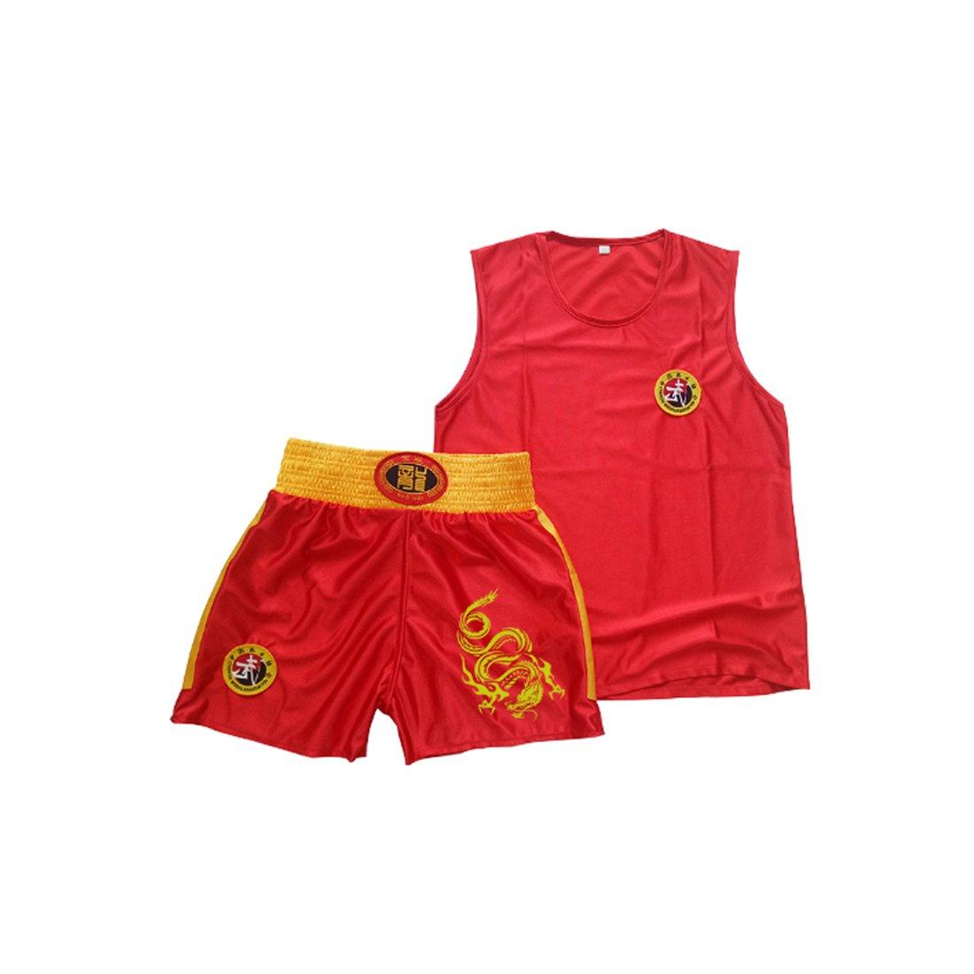 Fulision Men and Women Sanda Boxing Clothing Muay Thai Clothing Training Clothes