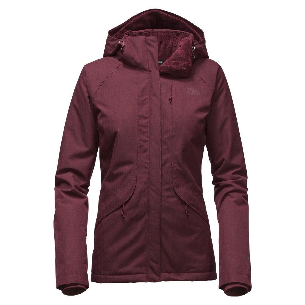 The North Face Inlux Womens Insulated Ski Jacket - Medium/Deep Garnet Red Heather