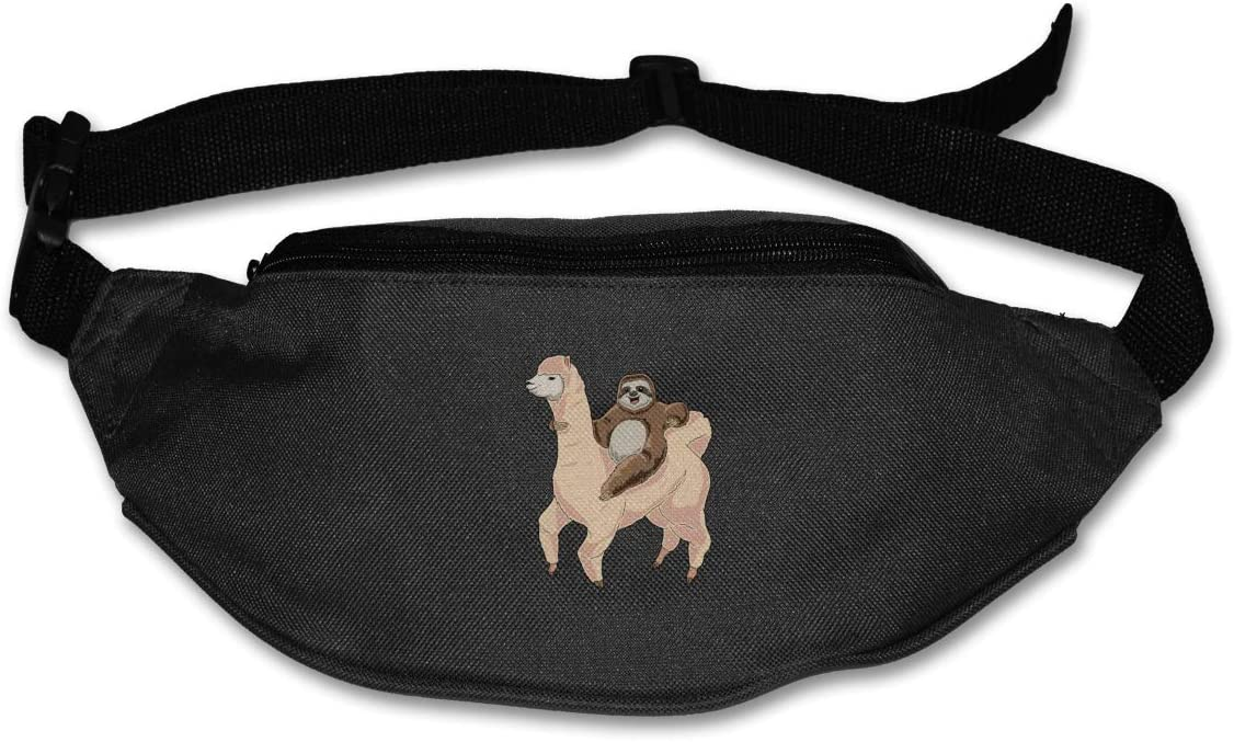 Cute Unicorn Dog Sport Waist Bag Fanny Pack Adjustable For Run
