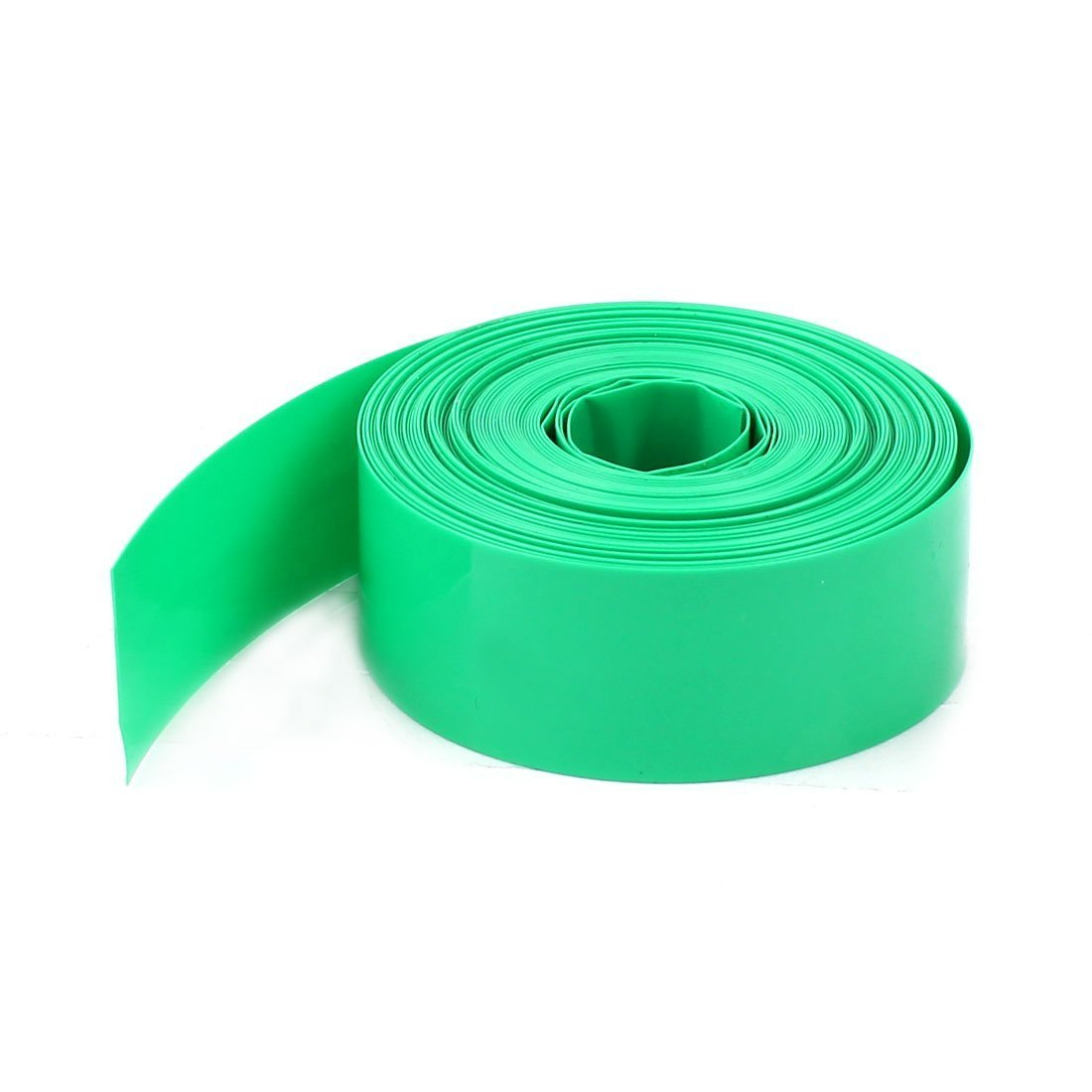 5m 16.4ft 23mm Green PVC Heat Shrink Wrap Tubing for 1 x AA Battery a15012300ux0264