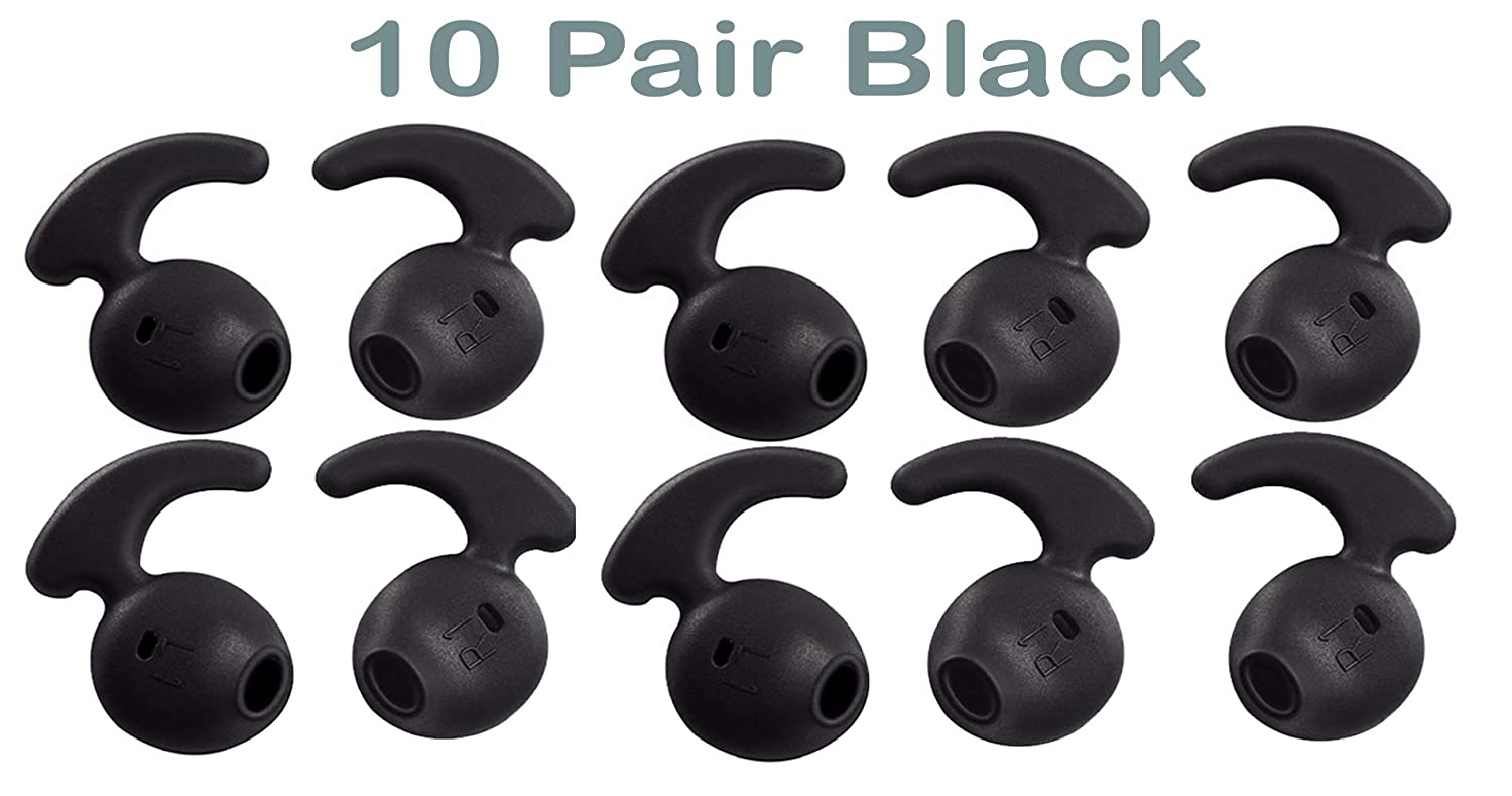 10 Pairs Silicone Ear Pad Cover Earphone Headphone Earbud Replacement Anti-slip