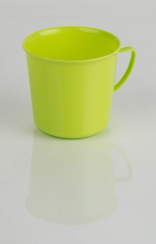 Kimmel 21-000-1607-1 Taza con asa color verde 330 ml, pl/ástico, tama/ño grande
