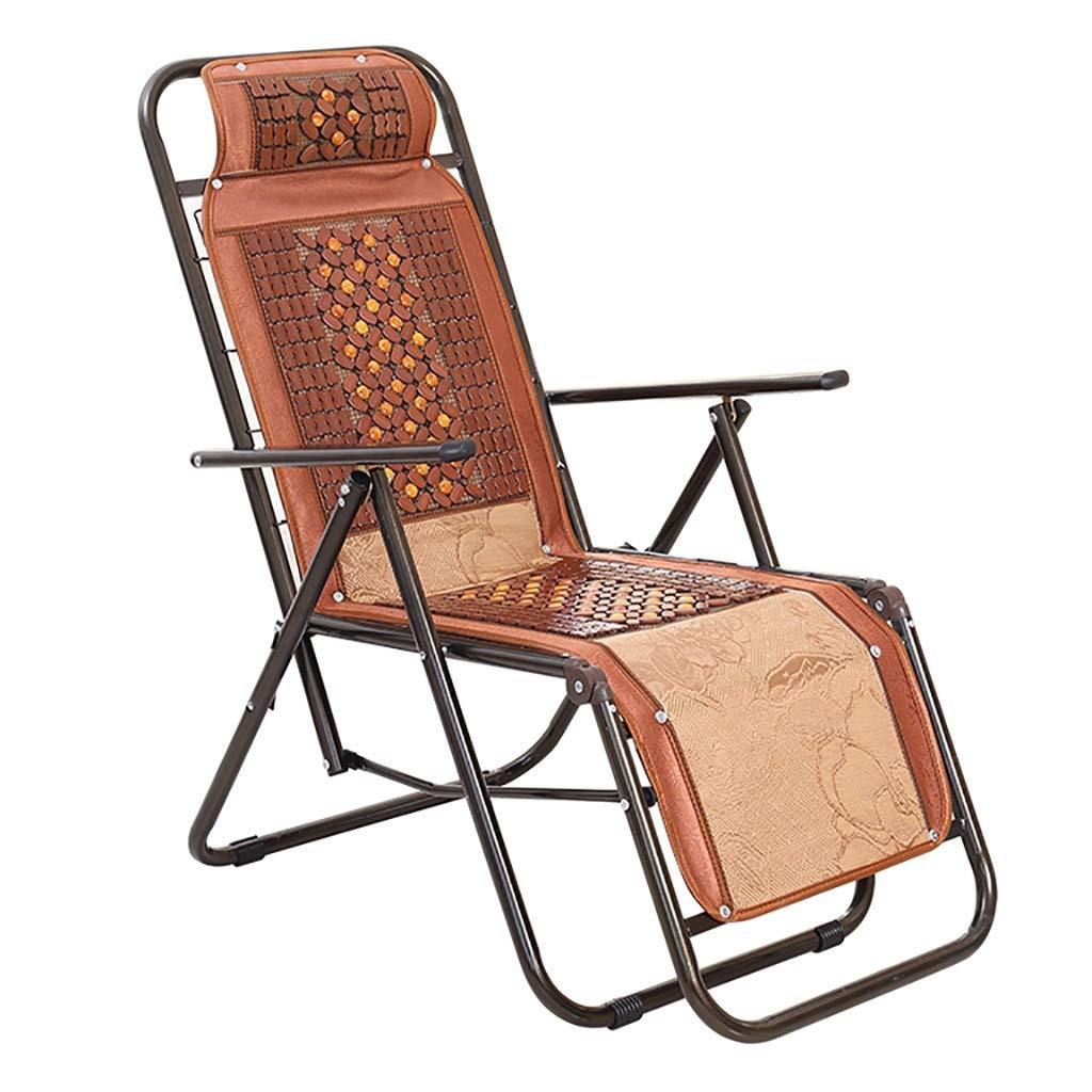 ポータブル 折るリクライニングチェアのオフィスの仮眠の椅子折る椅子の円形の管、滑り止めの馬小屋 B07T558LY7