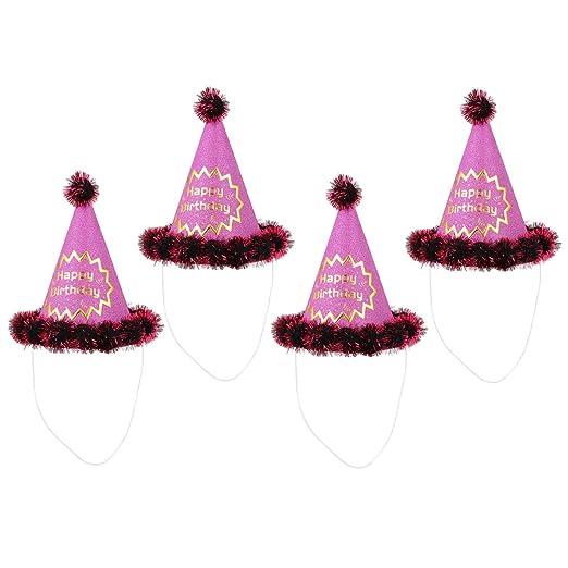 Amosfun 4 Piezas niños Fiesta de cumpleaños Sombreros Brillo ...