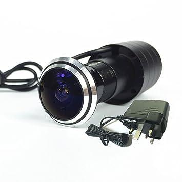 Cámara de seguridad de ojo para mirilla de puerta de Shrxy; detecció
