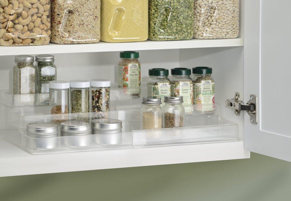 mDesign Gewürzregal für Küchenschrank und Arbeitsfläche ...