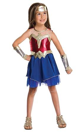 047d030e8b5c Disfraz oficial de la Liga de la Justicia de DC Comics, de Rubie's, Wonder  Woman, disfraz para niño