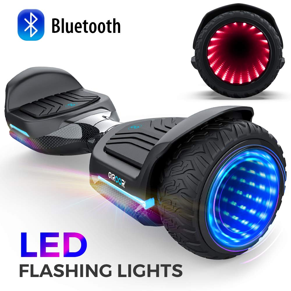 Magic hover 6.5'' inch All Terrain Off Road T581 Hoverboard,with Bluetooth Speaker and App-Enabled, Smart Self Balancing Scooter and LED Lights Two-Wheel with UL2272 Certified for Kids and Adults