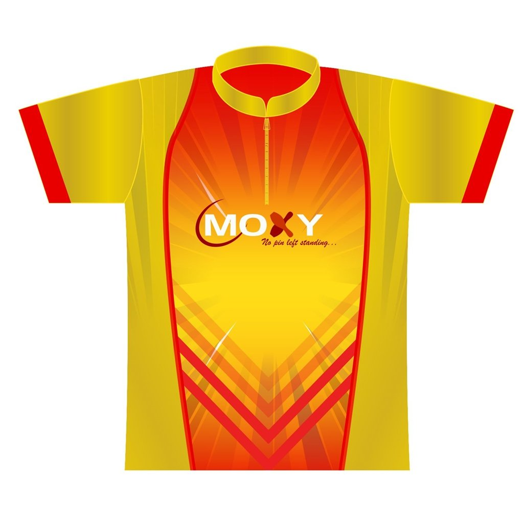 Moxy Dye-Sublimated Jersey- Flash (Ladies X-Small, Yellow/Red)