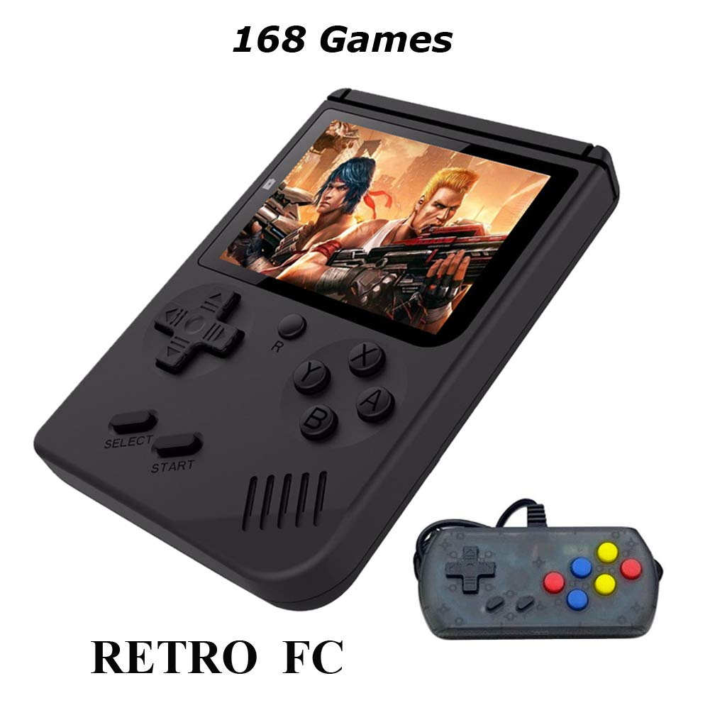 Retro Mini Handheld Game Console Built-in 168 Games 3 Inch Screen Video Game & Extra Controller Support TV Plug & Play Video Games by EVVE (Image #1)