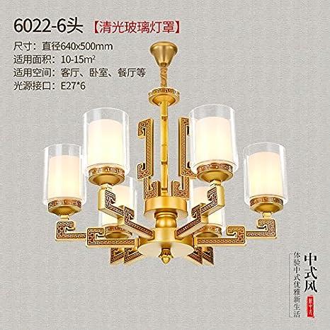 Nuevo estilo chino salón zinc atmósfera retro Villa lámpara ...
