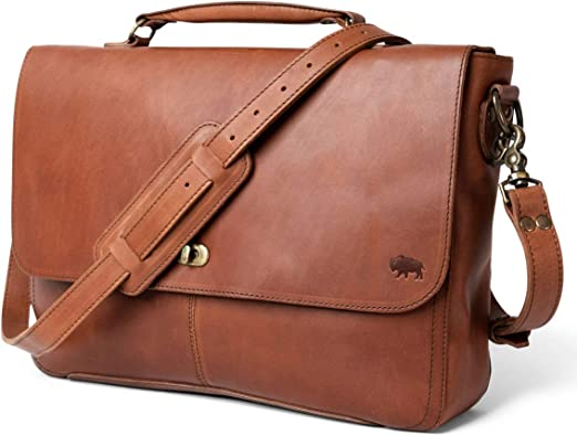 Genuine Leather Messenger Bag for Men | Denver by Buffalo Jackson | Fits 13