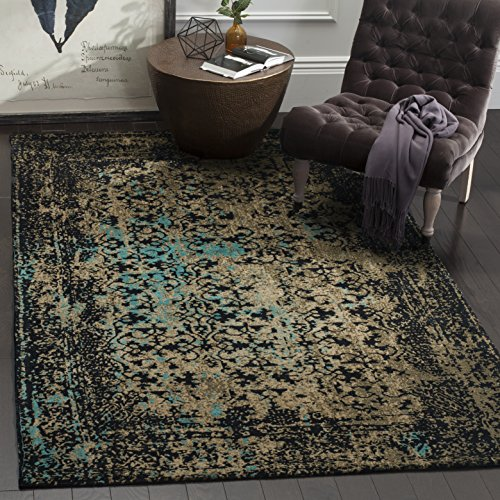 Safavieh Classic Vintage Collection CLV223B Black and Olive Area Rug (8' x 10') ()