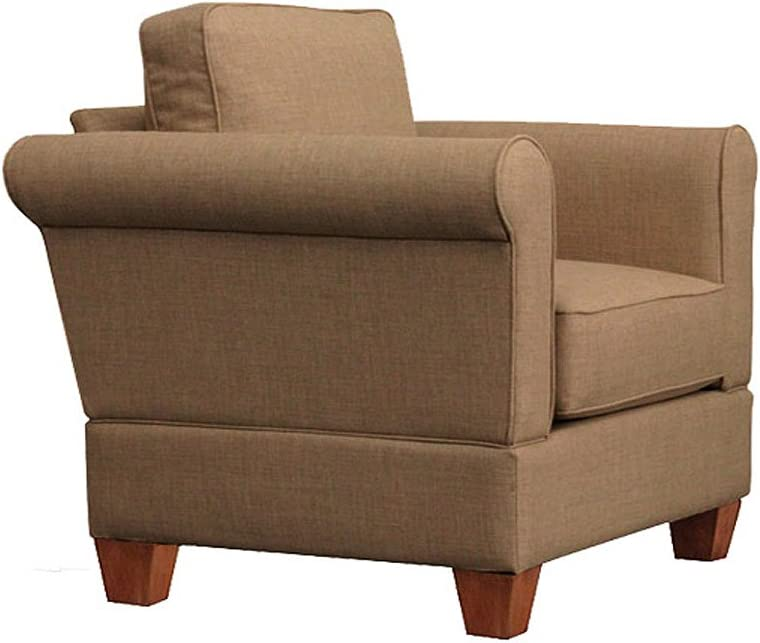 Furniture For Living Gregory Big Chair with Oak Legs, Sand