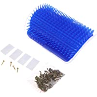 Khfun Pet Cat Self Groomer Hair Removal Brush Comb Shedding Trimming Massage with Catnip