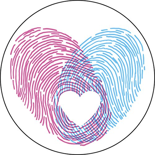 Baby Boy Girl Heart Thumb Prints Art Icon Vinyl Decal Sticker (8