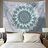 BLEUM CADE Tapestry Mandala Hippie Bohemian Tapestries Wall Hanging Flower Psychedelic Tapestry Wall Hanging Indian Dorm Decor Living Room Bedroom(51.2''×59.1'', Mandala Tapestry)
