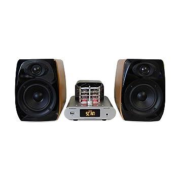 Madison mad-ta15bt sistema estéreo Vintage completo Amplificador Tubular Bluetooth y altavoces (Ampli 2