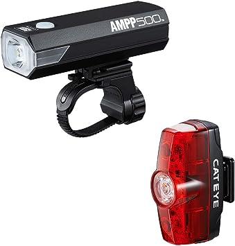 CatEye Amp 500 & Rapid - Juego de Luces Delanteras y traseras para Bicicleta (tamaño único), Color Negro: Amazon.es: Deportes y aire libre