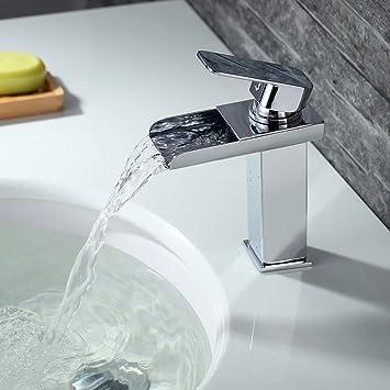 homelody robinet mitigeur lavabo vasque cascade chrom en laiton monotrou sur plage robinetterie salle de bain