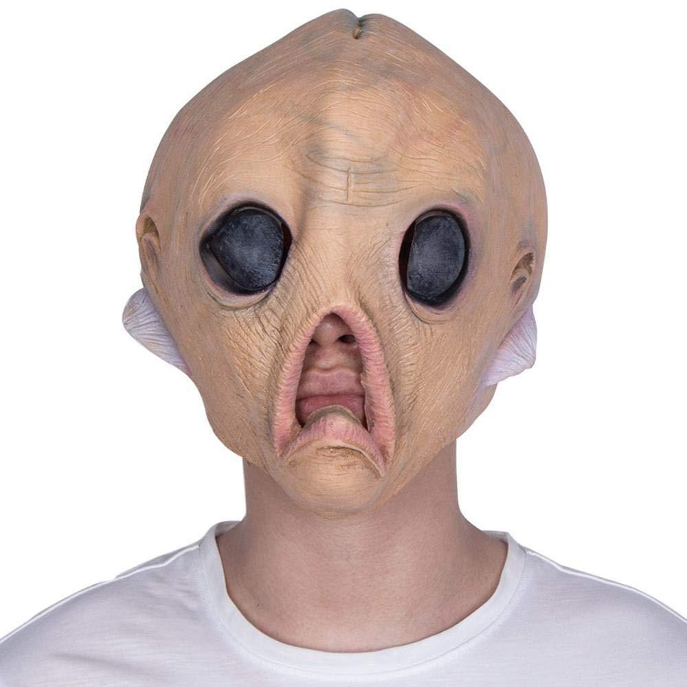 LEIU Ojos Grandes, Extraterrestres, máscara Cosplay Pelucas de látex Fiesta de Halloween máscara de Terror de Halloween Comercio Exterior