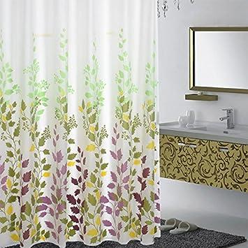 180CM Rideau Douche sans PVC Rideau Baignoire en PEVA Motif moisissure Preuve Polyester Size 80 Wicemoon Rideau de Douche Original