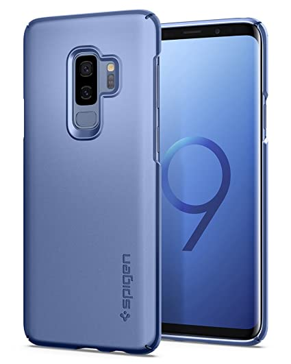 huge discount 9502d 56f47 Spigen Thin Fit Designed for Samsung Galaxy S9 Plus Case (2018) - Coral Blue