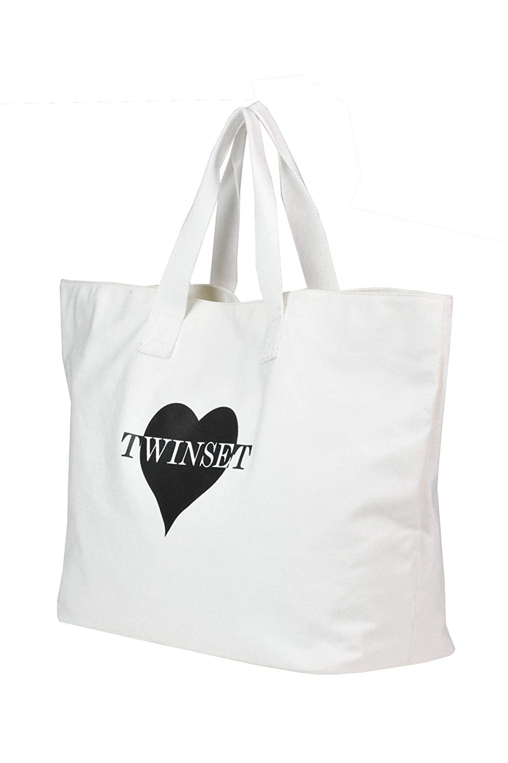 Twin-Set Womens Mcglbre000005131e White Fabric Tote
