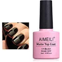 AIMEILI Gel Nail Polish Soak Off UV LED - No Wipe Matte Top Coat 10ml