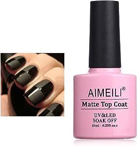 AIMEILI Gel Nail Polish Soak Off UV LED - No Wipe Matte Top Coat 10ml