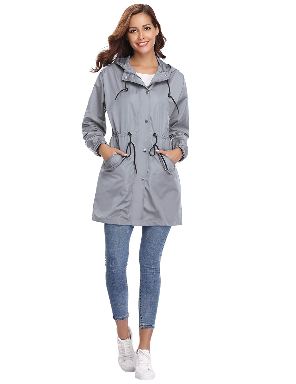 Girls Multi Colour Shower Proof Rain Mac Outdoor Kagoul Kagool Cagoule Raincoat