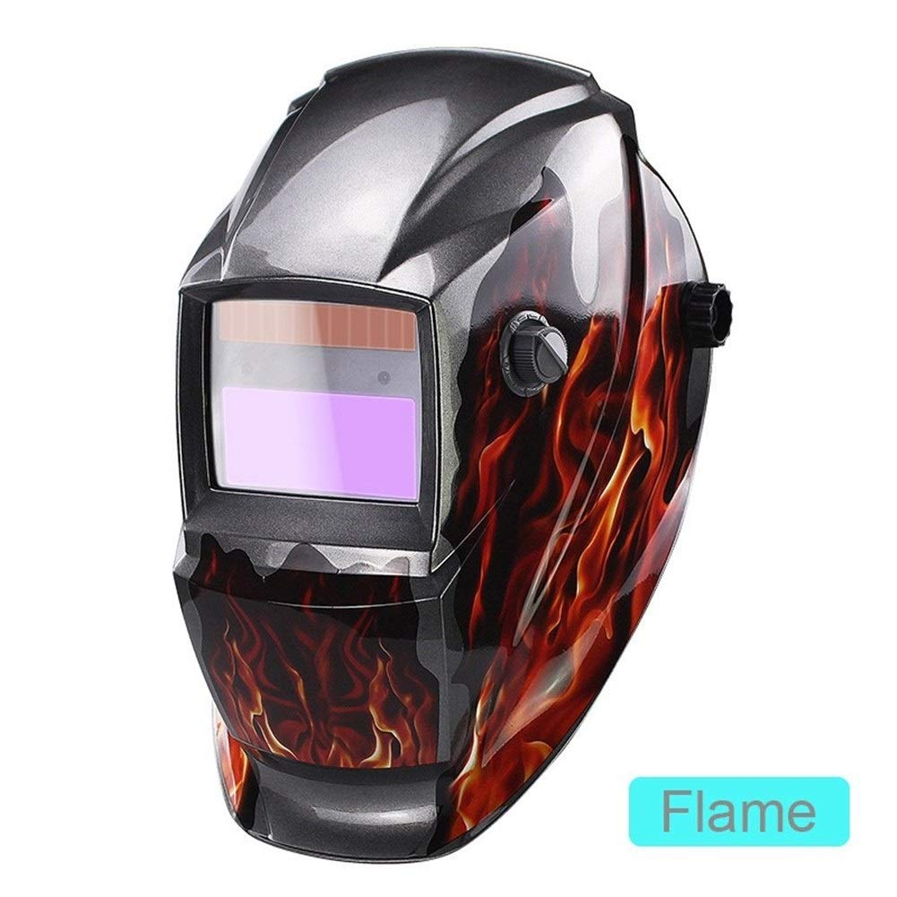 YUANYUAN521 Li Battery/Solar Power Auto Darkening TIG MIG MMA MAG KR KC Electric Welding Mask/Helmets/Welder Glasses for Welder (Color : Flame) by YUANYUAN521