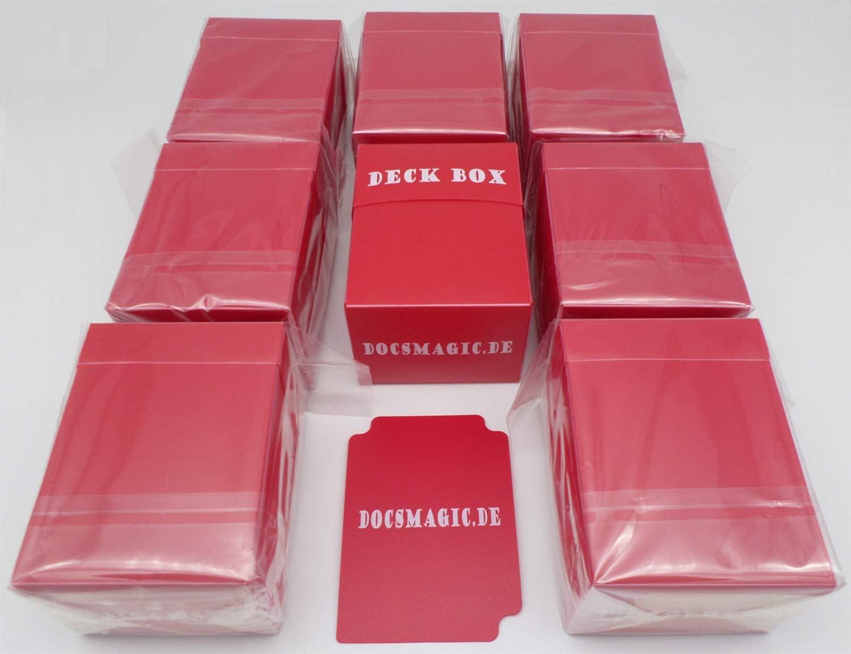 docsmagic.de 8 x Deck Box Red + Card Divider - Caja Roja - PKM - YGO - MTG: Amazon.es: Juguetes y juegos