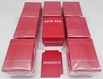 docsmagic.de 8 x Deck Box Red + Card Divider - Caja Roja ...