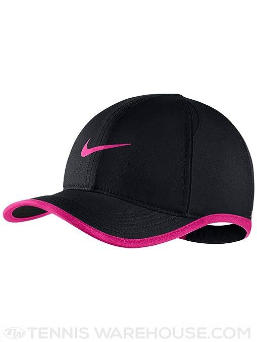 b2b133e9 Nike Youth Aerobill Featherlight Cap, Black/Laser Fuchsia/Laser Fuchsia,  Misc
