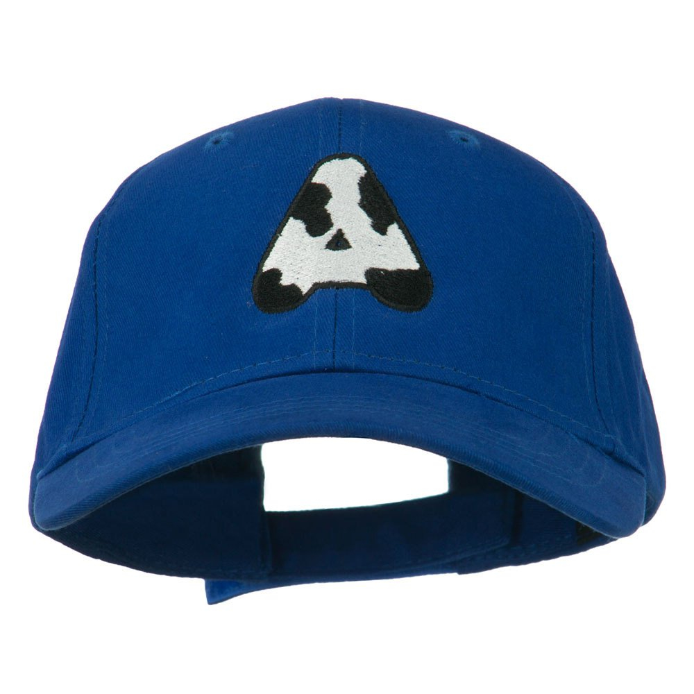 Holstein Alphabet AM Letters Embroidered Youth Brushed Cap