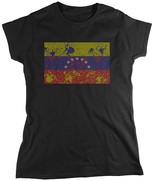 Bandera de Venezuela, abstracto Faded Venezuela bandera de las mujeres camiseta, amdesco