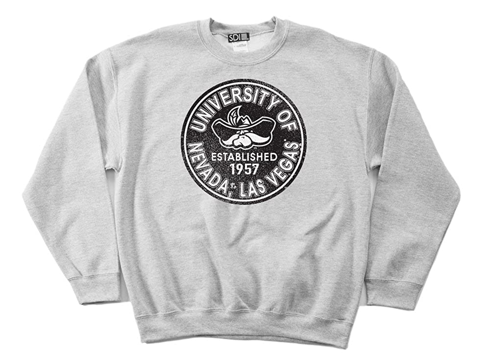 NCAA UNLV Rebels 50//50 Blended 8-Ounce Vintage Circle Crewneck Sweatshirt