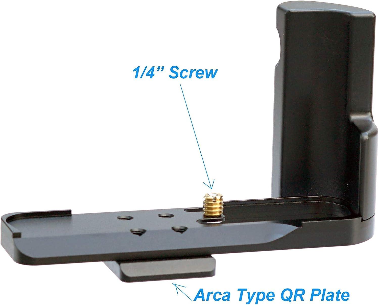 Fotasy Aviation Grade Aluminum Hand Grip for Sony RX100 II III IV V VI Arca Swiss Quick Release L Bracket Holder for RX100M2 RX100M3 RX100M4 RX100M5 RX100M6 R