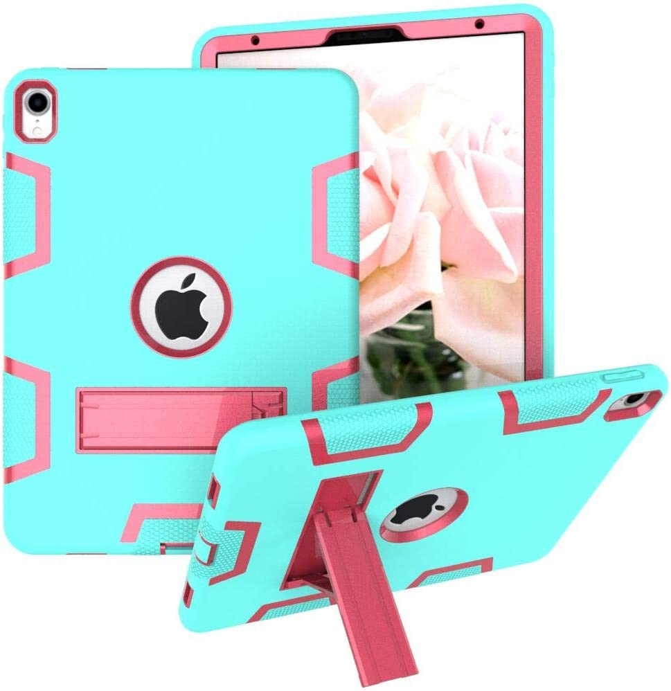 Ipad 9 7 2018 Ipad 6th 5th Generation Case Three Layer Shockproof Armor Defender Protective Case Cover For Apple Ipad 9 7 2017 2018 A1893 A1954 A1822 A1823 Aqua And Rose Pink Price In Uae Amazon Uae Kanbkam