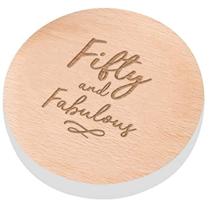 Fifty And Fabulous 50th Birthday Coaster For Women Presents Funny Gifts Friend Mum Amazoncouk