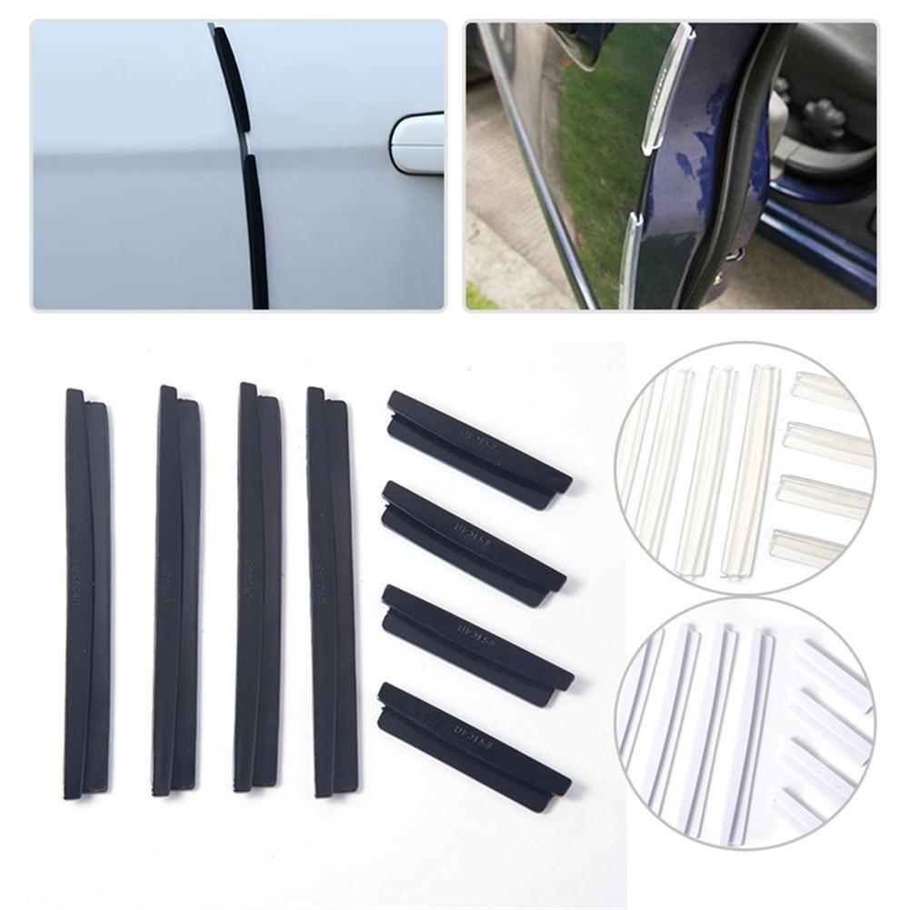 Liery T/ürkantenschutz Auto 8 PCS Clip-Modell Anti-Kollisions-Streifen Universal 72g Schwarz//Grau//Wei/ß//Nachtleuchtend//Transparent Autot/üren Anti-Reibungsstreifen