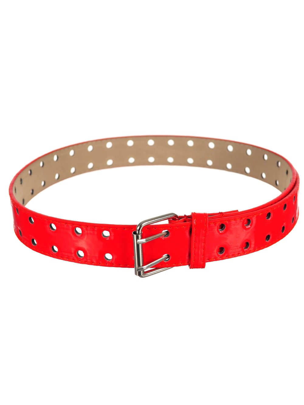 Marilyn Taylor Girls' Double Punch Patent Leather Belt